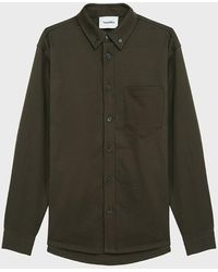 Nanushka Dome Cotton-twill Shirt - Green