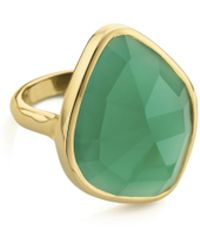 Monica Vinader Rose Gold Vermeil Siren Amazonite Nugget Cocktail Ring - Multicolour