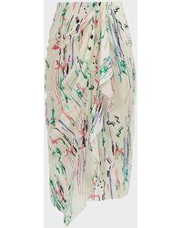 Isabel Marant Fabiana Printed Asymmetric Skirt - Green