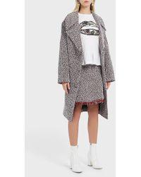 Markus Lupfer Mila Oversized Tweed Coat - Multicolour