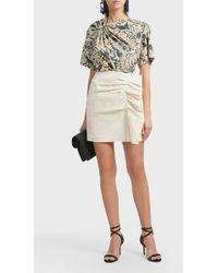 Isabel Marant   Lefly Ruffled Cotton-blend Skirt   Lyst