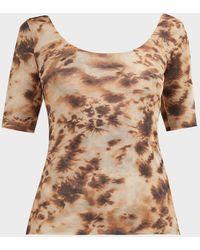 Nanushka Flan Tie-dye Top - Brown