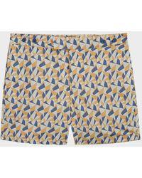 Frescobol Carioca Fragment Tailored Swim Shorts - Blue