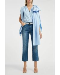 Y. Project Bow-embellished Cotton Shirt - Blue
