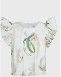 Aje. Imprint Floral Cropped Top - Multicolour