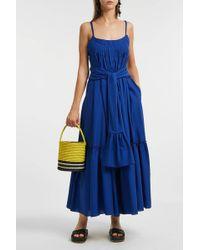 Three Graces London - Ariadne Cotton Midi Dress - Lyst