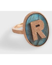 Carolina Bucci 18k Rose Gold M Initial Ring - Multicolour