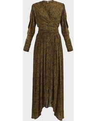 Isabel Marant Jucienne Leopard-print Crepe Dress - Multicolour