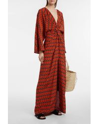 DHELA - Printed Silk-crepe Dress - Lyst