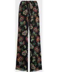Alexis Ikdea Floral Wide-leg Pants - Multicolor