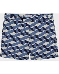 Frescobol Carioca Cube Tailored Swim Shorts - Blue