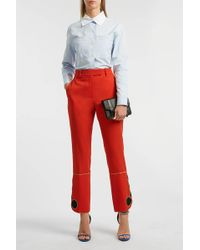 CALVIN KLEIN 205W39NYC Wool Straight-leg Pants - Red
