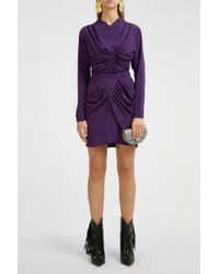 Isabel Marant Tilena Draped Skirt - Purple