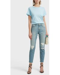 FRAME - Slouchy Cotton T-shirt - Lyst