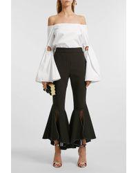 Ellery - Lopez Off-the-shoulder Cotton Top, Size Uk8, Women, White - Lyst