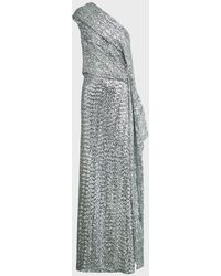 Roland Mouret Taishan Sequinned One-shoulder Gown - Multicolour
