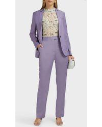 Paul & Joe Guillemet Wool-blend Pants - Purple