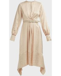 Jonathan Simkhai Twist Front Cheetah Print Dress - Natural