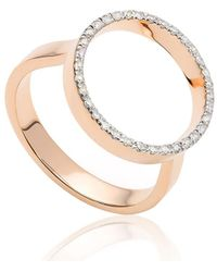 Monica Vinader Diva Open Ring - Metallic