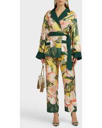 F.R.S For Restless Sleepers Tartaro Floral Silk Pants