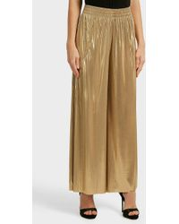 Norma Kamali - Lamé Wide-leg Trousers - Lyst