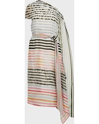 Roland Mouret Hadera Striped Asymmetric Dress - Multicolor