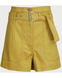 3.1 Phillip Lim Belted Cotton-twill Utility Shorts - Multicolor