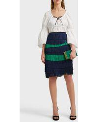 Martin Grant Fringed Midi Skirt - Multicolour