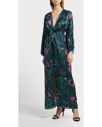 Borgo De Nor Drape Detail Cotton And Silk-blend Dress - Multicolour