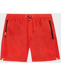 Sundek Contrast-stripe Swim Shorts - Red