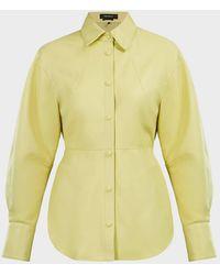 Isabel Marant Xiao Leather Shirt - Yellow