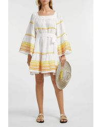 Lisa Marie Fernandez - Ric Rac Embroidered Linen Dress - Lyst