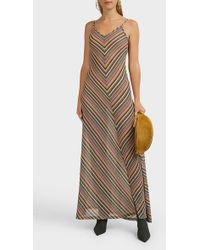 Y. Project Striped Cotton-blend Maxi Dress - Multicolor