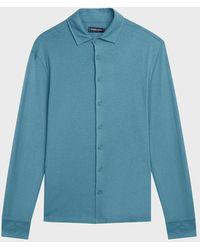 Frescobol Carioca Linen-blend Shirt - Blue
