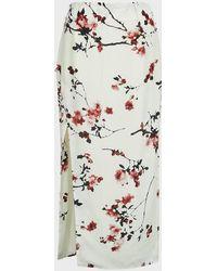 Altuzarra Edmund Floral Crepe De Chine Skirt - Multicolour