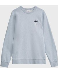 Cuisse De Grenouille - Palm Tree Embroidered Cotton Jumper, S - Lyst