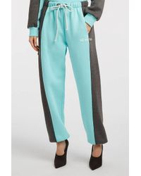 Natasha Zinko - Printed Cotton-blend Jersey Track Trousers - Lyst