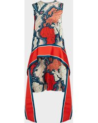 Victoria, Victoria Beckham Printed Dress Multicolor - Red