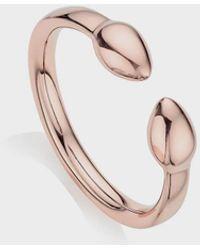 Monica Vinader 18k Rose Gold Vermeil Fiji Bud Stacking Ring - Multicolour