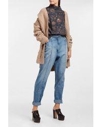 AF AGGER | Floral-print Cotton-poplin Shirt | Lyst