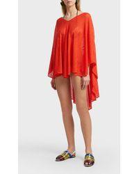 Missoni Knitted Belt Kaftan - Red