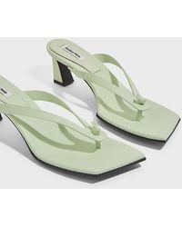 Reike Nen Flip-flop Heel Leather Mules - Green