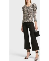 Isabel Marant - Lyre Cropped Cotton-blend Trousers - Lyst