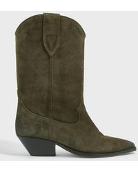 Isabel Marant Duerto Suede Boots - Green