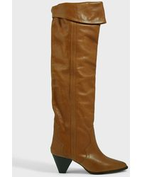 Isabel Marant Remko Knee-high Leather Boots - Brown