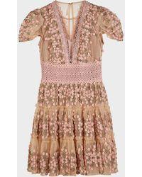 Bronx and Banco Megan Rose Mini Dress - Pink