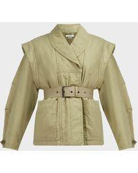 Étoile Isabel Marant Raine Cotton-blend Jacket - Green