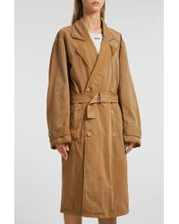 Yeezy - Cotton-blend Trench Coat, Size S, Women, Beige - Lyst