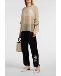 Forte Forte - Embroidered Satin Track Pants - Lyst