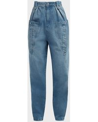 Isabel Marant Kerris High-rise Paperbag Jeans - Blue